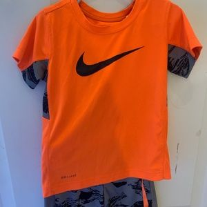 Nike shorts and shirt set for toddler